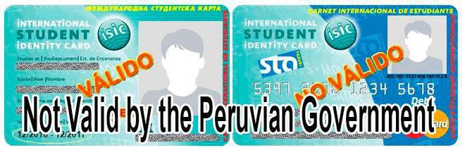 Carnet Isic No Valido Okidoki Travel Peru